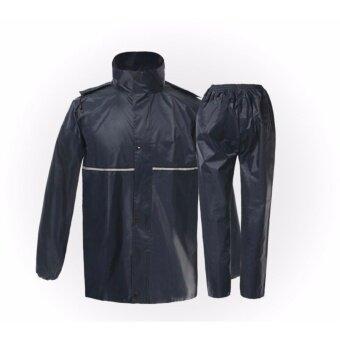 กันฝนมืออาชีพผู้ใหญ่เสื้อกันฝนกลางแจ้งหนา Slicker Heavy น้ำฝนเกียร์รถจักรยานยนต์ Rainsuit คุณภาพสูง