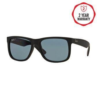 Ray-Ban แว่นกันแดด รุ่น Justin RB4165F - Black Rubber (622/2V) Size 55