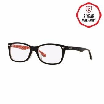 Ray-Ban แว่นสายตา รุ่น - RX5228F - Top Black On White/Red (2479)Size 53 Demo Lens