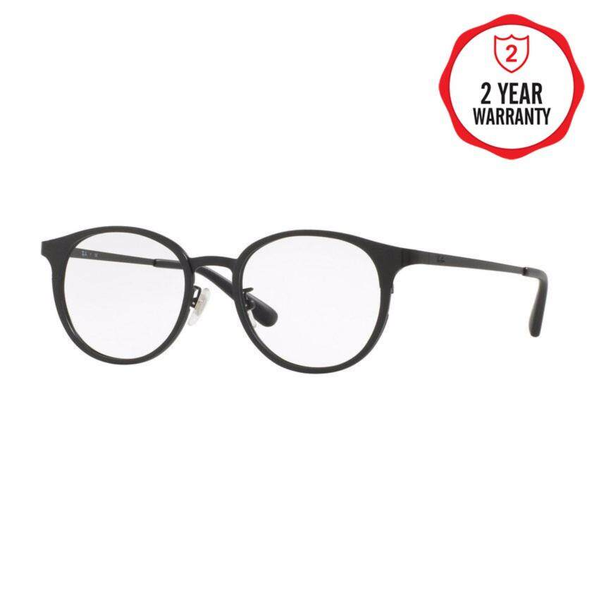 Ray-Ban แว่นสายตา รุ่น  - RX6372D - Brushed Black/Matte Black (2894) Size 50 Demo Lens