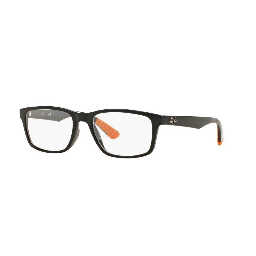 Ray-Ban แว่นสายตา รุ่น - RX7063F - Shiny Black (5417) Size 54 Demo Lens