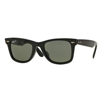 Ray-Ban แว่นกันแดด รุ่น Wayfarer RB2140F - Black (901/58) Size 52 Crystal Green Polarized