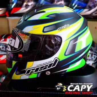 ซื้อ REAL helmet หมวกกันน็อก หมวกกันน็อค หมวกกันน๊อก หมวกกันน๊อค RealTornado Spectre สี ดำ-เขียว Black Green (Big Bike and motorcycleHelmet)