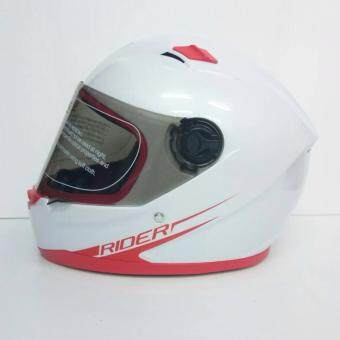 Rider helmet หมวกกันน็อคหุ้มคาง รุ่น R1 สีขาว-แดง