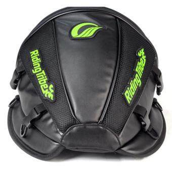 Riding Tribe Durable Motorcycle Helmet Tail Seat Bag Top Case with Great Capacity Reflective Stripe Shoulder Bands - intl