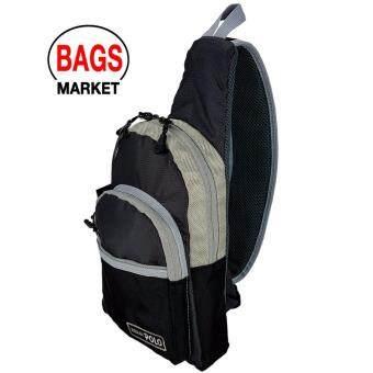 Romar Polo กระเป๋าสะพายหลังแบบเป้สะพายข้าง พาดลำตัว คาดอกสะพายเฉียง ขนาดความสูง 12 นิ้ว Code R72454-1 (Black) - 3