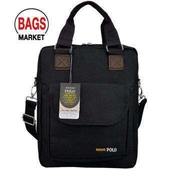 รีวิว กระเป๋าสะพายข้าง กระเป๋าสะพายไหล่ กระเป๋าใส่เอกสาร กระเป๋าถือ กระเป๋าใส่ Ipad/Laptop ขนาด 14 นิ้ว รุ่น R41408 (Blaack)