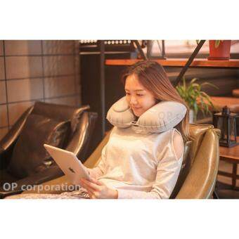 ROMIX หมอน พกพา Portable Folding U Neck Pillow for Travel Flight Car Office Inflatable Pillows Neck Rest Air Cushion Comfortable RH34