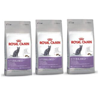 Royal Canin Sterilised and Calorie Control for Cat 400g โรแยลคานิน อาหารสำหรับแมวทำหมัน 3 units (3182550737555-3)