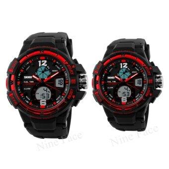 S SPORT นาฬิกาข้อมือคู่ - 9292-3200 (Black/Red)