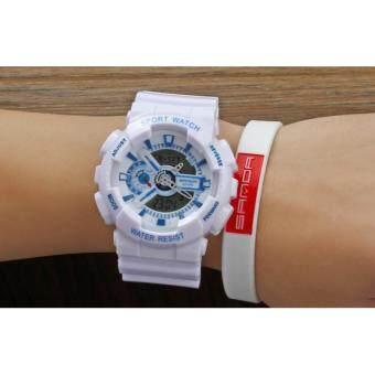 S SPORT นาฬิกาข้อมือ กันน้ำได้ ได้ทั้งชายและใส่หญิง - SP9210 (WHITEBLUE)