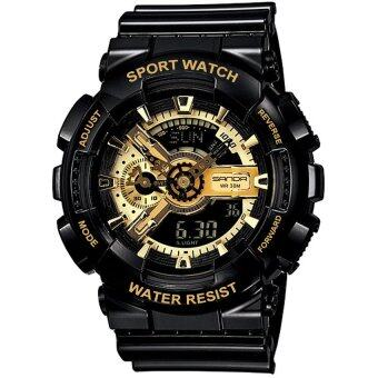S SPORT นาฬิกาข้อมือ Unisex ใส่ได้ทั้งชายและใส่หญิง - GA110GB-1A(Black/ Gold)