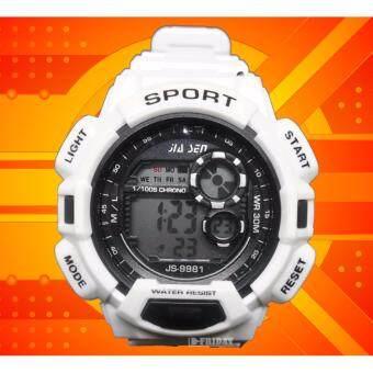 $$$ SALES SUPER SPORT $$$ นาฬิกาข้อมือ ชายหญิง DIGITAL สีขาว ALL WHITE สายยางซิลิโคน สวยเฉียบ ฟังก์ชั่นครบทุกการใช้งาน By D FRIDAY