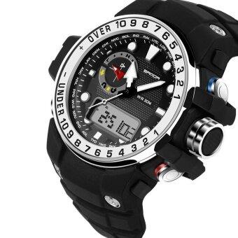 SANDA กลางแจ้งกีฬานาฬิกาผู้ชายทหารนาฬิกาข้อมืออิเล็กทรอนิกส์กันน้ำกันกระแทก LED Digital Shock นาฬิกาข้อมือ