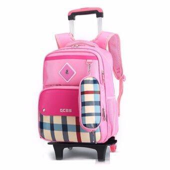 กระเป๋าเป้ล้อลาก School Bag สีชมพู