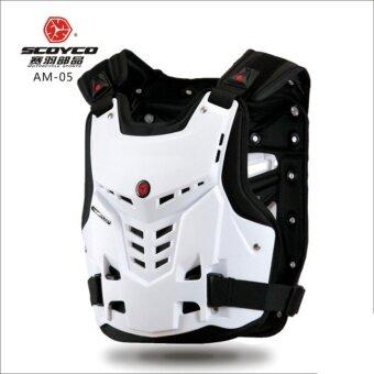 SCOYCO AM05 รถจักรยานยนต์ Motocross หน้าอกและด้านหลัง Protector Armour Vest Racing ชุดเกราะป้องกันตัวถัง