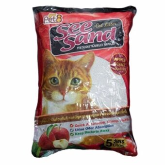 รีวิวพันทิป ทรายแมว See Sand Apple 5 ลิตร