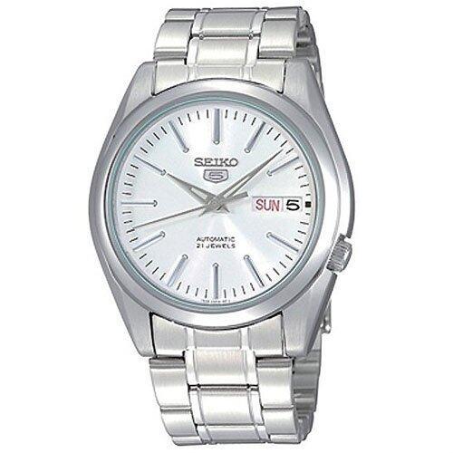 แม่ฮ่องสอน SEIKO 5 Automatic นาฬิกาข้อมือผู้ชาย สีเงิน สายสแตนเลส รุ่น SNKL41K1