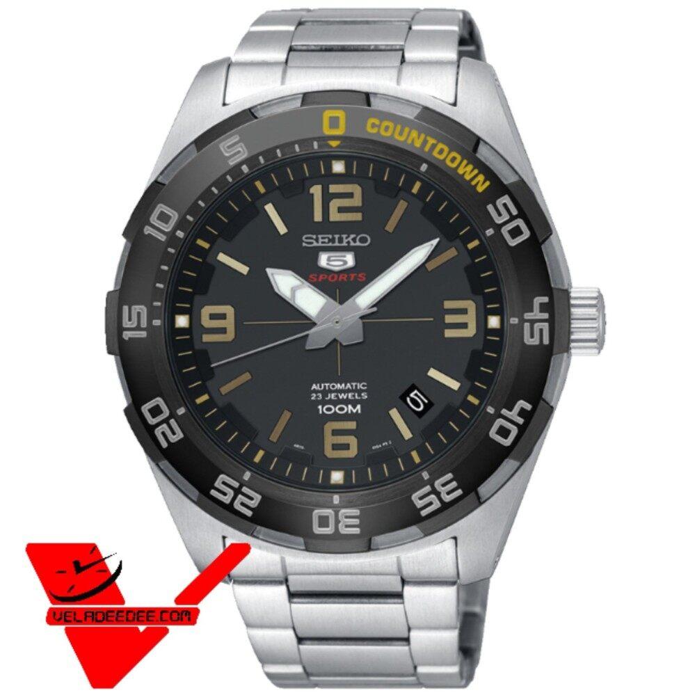 ยี่ห้อไหนดี  กำแพงเพชร Veladeedee นาฬิกา  Seiko 5 Sport Automatic นาฬิกาข้อมือผู้ชาย สายสแตนเลส รุ่น SRPB83K1 (หน้าดำเข็มทอง) SRPB81K1 (หน้าดำเข็มเงิน)