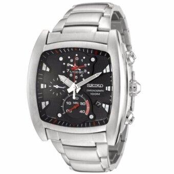 ราคา Seiko นาฬิกาข้อมือผู้ชาย Advanced 1/100 sec Chronograph Timer Black Dial SPC029P1