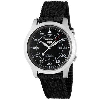 2561 Seiko นาฬิกาข้อมือผู้ชาย สายผ้า Automatic Military Watch รุ่น SNK809K2 - Black