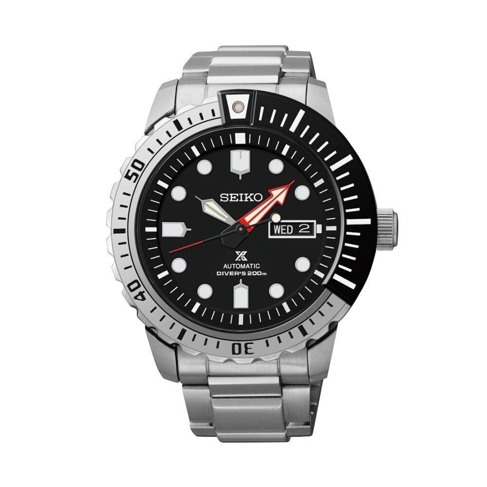 นครศรีธรรมราช Seiko Automatic นาฬิกาข้อมือชาย Black Dial Stailess Steel Divers Prospex SRP587K1