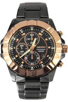 2561 Seiko Lord Chronograph Men s Watch Black/Gold Strap รุ่น SNDD78P1