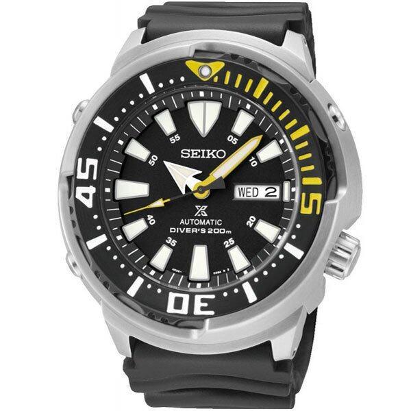 ยี่ห้อไหนดี  ศรีสะเกษ SEIKO นาฬิกาข้อมือผู้ชาย สายยาง รุ่น SRP639K1 (TUNA กระป๋องเหล็ก) - สีดำ