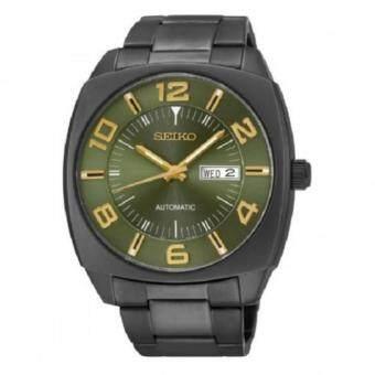 ราคา Seiko นาฬิกาข้อมือชาย Retro Classic Automatic 45mm Black IP Green SNKN35K1