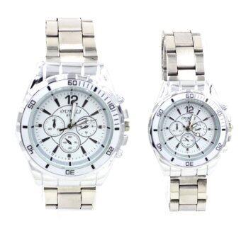 Sevenlight นาฬิกาข้อมือคู่รัก (ได้สินค้าสองชิ้น) - 9145-8091 (White) พิเศษแถมกล่องนาฬิกาสุดหรู