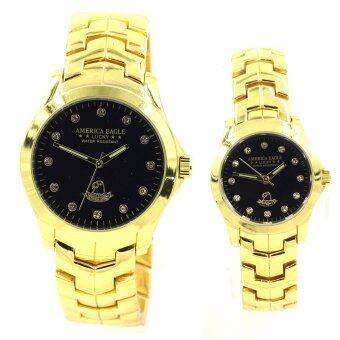 Sevenlight America Eagle นาฬิกาข้อมือคู่รัก - 9188-8127 (Gold/Black)