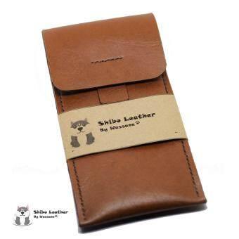 Shibo Leather ซองหนังใส่นาฬิกา สีน้ำตาล (Handmade) SL001-Brown