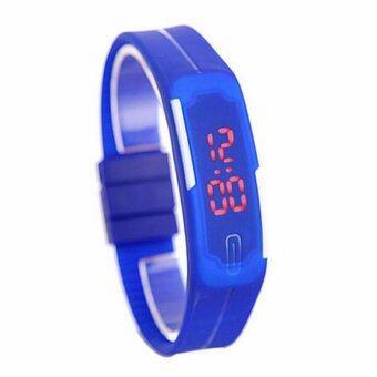 นาฬิกา ดิจิตอล สายรัดข้อมือทำจาก ยางสิลิโคลน รุ่น silicon