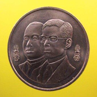 sirimongkon เหรียญ ร.6 คู่ ร.9 ครบ 80 ปีกรมสรรพากร เนื้อนิเกิล ปี 2538
