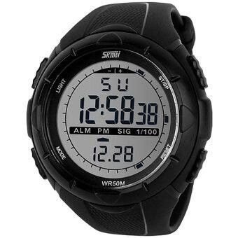 Skmei ������������������������������������ ��������������������� ������������������ ������������������ ������������ 1025 ������������ LED DigitalSport Fashion Waterproof Men Watch - Black