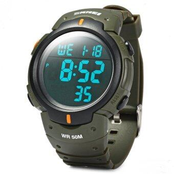 Skmei Brand Mens Sports Watches Dive 50m Digital LED Military Watch Fashion Casual Military Outdoor Wristwatches 1068 - Green - intl