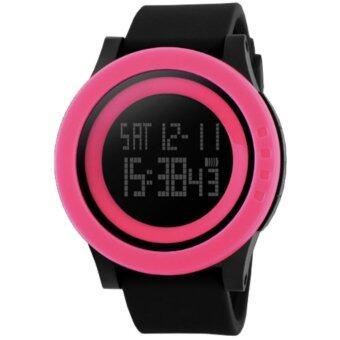 Skmei นาฬิกาข้อมือ กันน้ำ ผู้ชาย ดิจิตอล รุ่น 1142 สีชมพู LED Digital Water Resistant Sport Men Watch- Pink