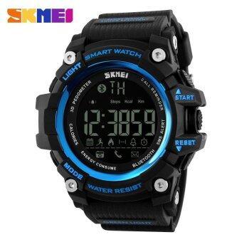 Skmei 1227 นาฬิกาสปอร์ตดิจิตัลพร้อมเครื่องนับก้าวเดินอัจฉริยะ แบบกันน้ำ- สีน้ำเงิน
