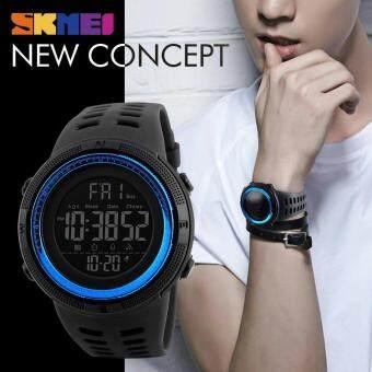 SKMEI 1251 Men's Sports Watches Countdown Double Time Watch Alarm Chrono Digital Wristwatches 50M Waterproof Watches