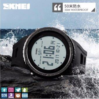 SKMEI นาฬิกาดิจิตอลชาย มัลติฟังค์ชั่นคุณภาพทนทาน กันน้ำใด้ดี (พร้อมกล่องเซ็ท) รุ่น SK1246(Black)