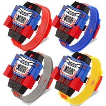 SKMEI นาฬิกาหุ่นยนต์ ดิจิตอล สำหรับเด็ก แพคสี่ รุ่น SKMEI1095 สีเหลือง + สีแดง + น้ำเงิน + เทา