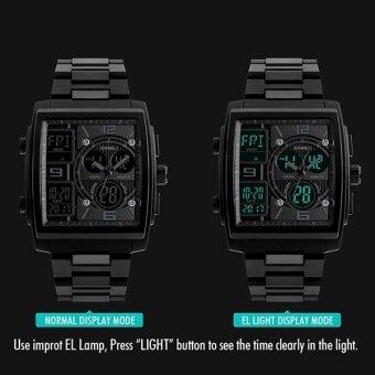 SKMEI แบรนด์ดิจิตอลควอทซ์ผู้ชาย Wristwatches กลางแจ้งกีฬามัลติฟังก์ชั่น Led ดิจิตอลโครโนกราฟ 50 เมตรกันน้ำนาฬิกา 1274 - นานาชาติ