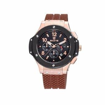 2561 SKONE 5144EG นาฬิกาข้อมือผู้ชายทรงสปอตใส่สบาย แสดงผลแบบอะนาล็อก