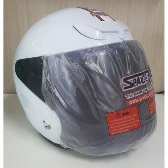 หมวกกันน็อค SPACE CROWN รุ่น EX-SERIES (สีขาว)