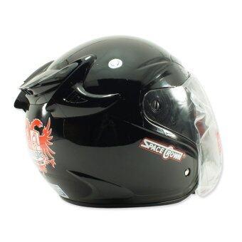 SPACE CROWN หมวกกันน๊อค รุ่น KNIGHT (สีดำเงา) (image 1)