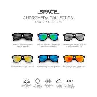 SPACE สเปซ Sunglasses แว่นกันแดด รุ่น Andromeda (แอนดรอเมดา) Matte Black frame with Smoke lens (กรอบดำด้าน/เลนส์ดำ) - 4