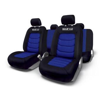Sparco ผ้าหุ้มเบาะ รุ่น SPC1019AZ- Blue (ชุด 4 ชิ้น)