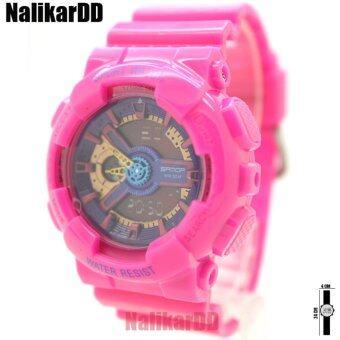 ราคา Sport Watch SAMDA นาฬิกาข้อมือผู้หญิงและเด็ก สายยาง ทรงกลม 2ระบบ ดิจิตอลและเข็ม