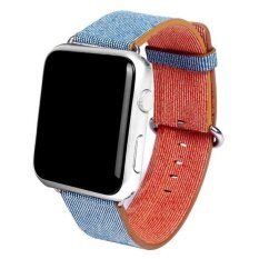 Sports Woven Nylon Silicone Bracelet Strap Band For Apple Watch 38mm LBU -