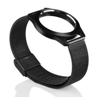 Steel Wristband Strap Bracelet Sleep Fitness Monitor For MisfitShine BK - intl